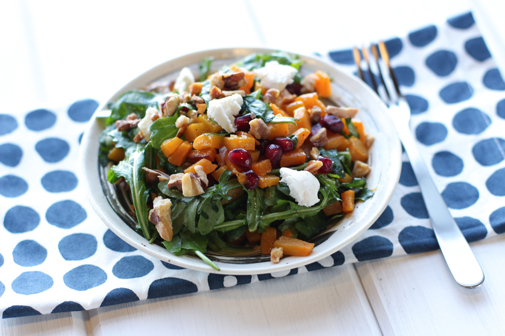#\'s Warm Butternut Squash Salad