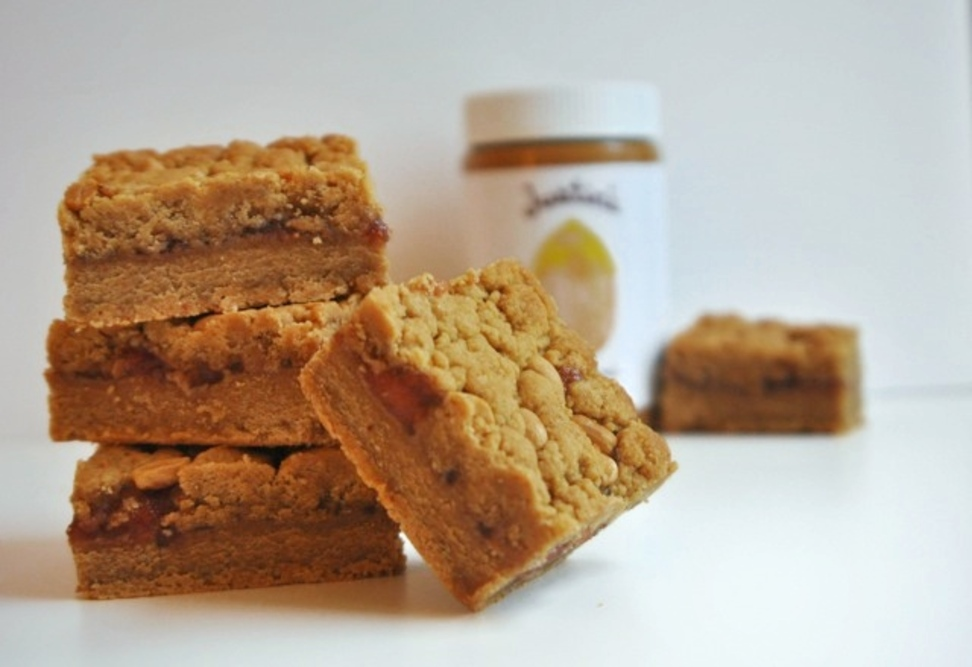 Honey Peanut Butter & Jelly Bars